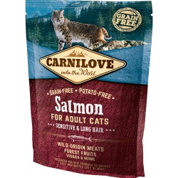 Gratis Carnilove Kat Adult Salmon – Sensitive og Long Hair 50 g