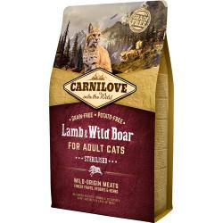 Carnilove Kat Adult Lamb og Wild Boar – Sterilised 2 kg