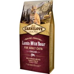 Carnilove Kat Adult Lamb og Wild Boar – Sterilised 6kg