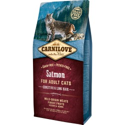 Carnilove Kat Adult Salmon – Sensitive og Long Hair 6kg