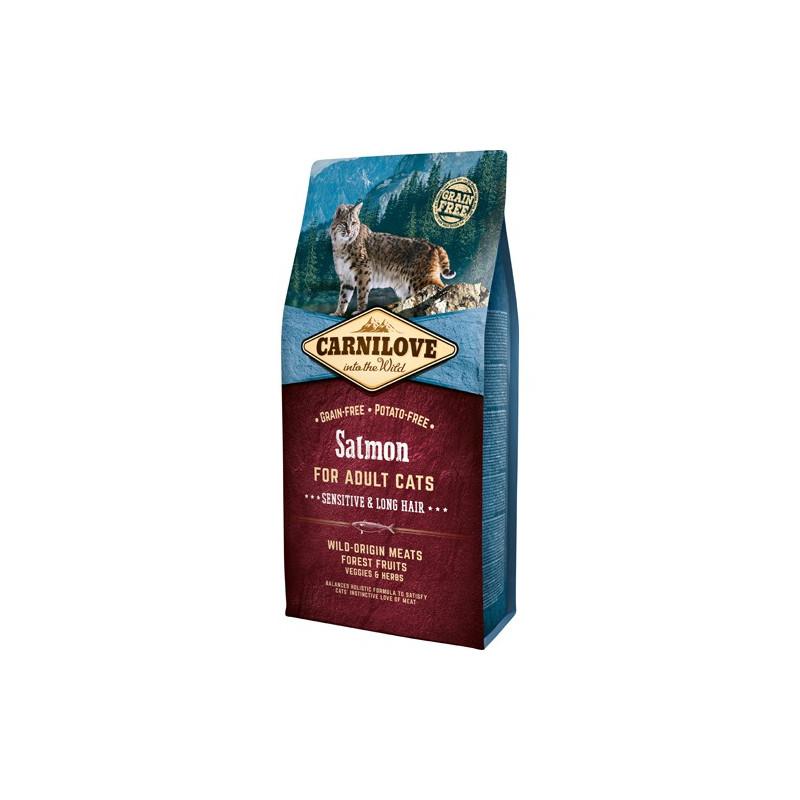 Carnilove Kat Adult Salmon – Sensitive og Long Hair 6kg