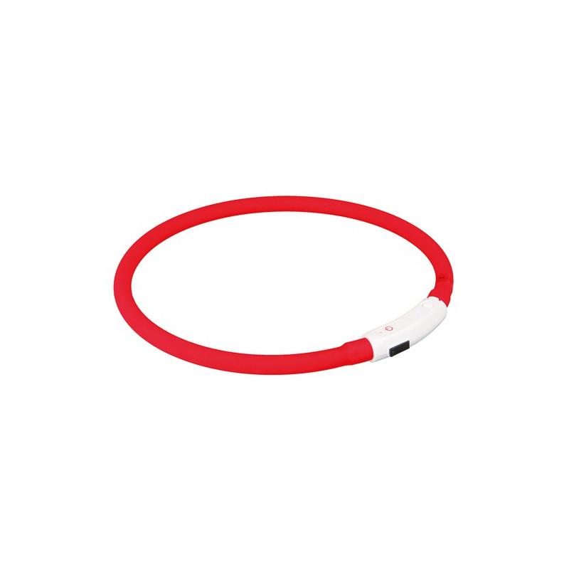 Lyshalsbånd USB, XS–S: 35 cm/ø 8 mm, red