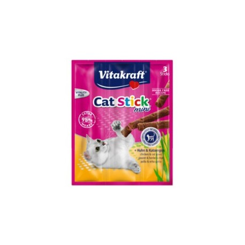 Vitakraft - Cat-Stick Mini Chicken & Cat Grass