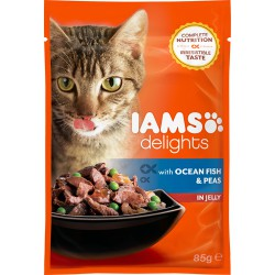 Iams Cat Adult Ocean Fish & Peas in Jelly 85g