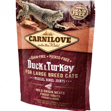 Carnilove for Large Breed Cats – Muscles Bone 400 g