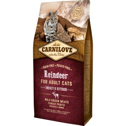 Carnilove Reindeer for Adult Cats – Energy og Outdoor 6kg