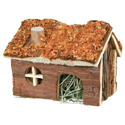 Hus med hø og gulerod på taget 15 × 11 × 12 cm