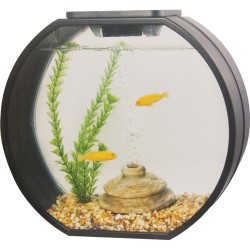 Nano Akvarie Deco O mini 10 Liter, sort