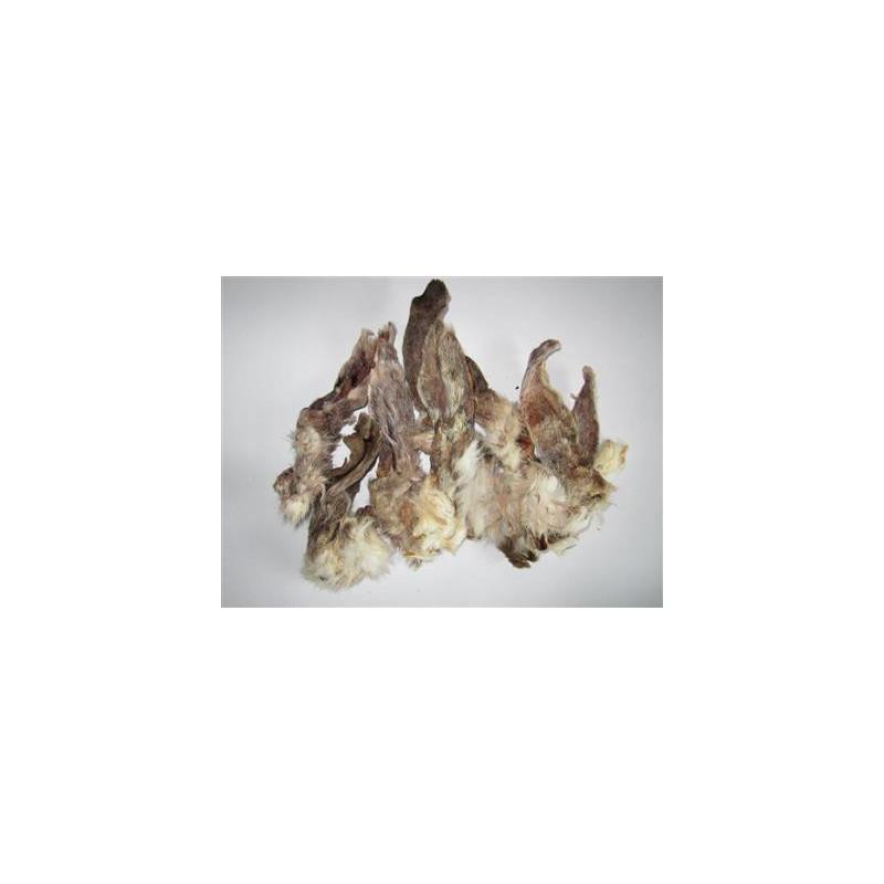 Kaninøre med pels 100 gram
