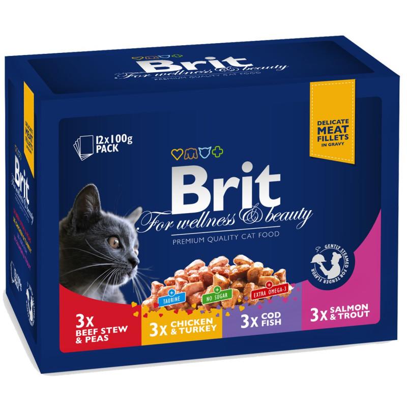 Brit Premium Cat Pouches Family Plate (12x100g)