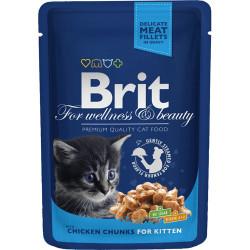 Brit Premium Cat Pouches Kyllingestykker til killinger 100g