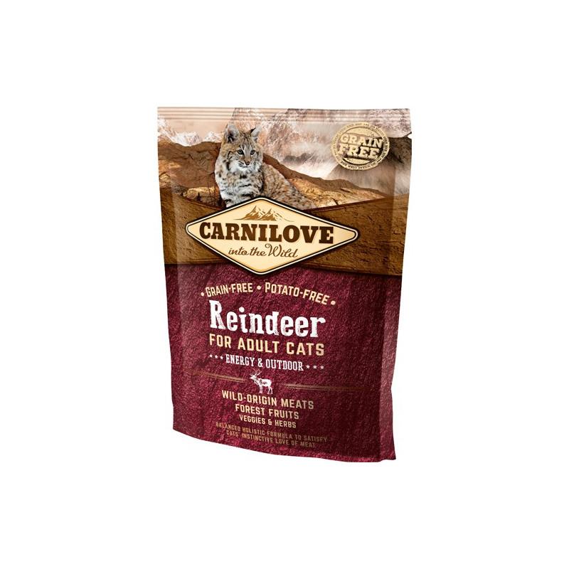 Carnilove Reindeer for Adult Cats – Energy og Outdoor 400 gram