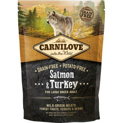 Gratis vareprøve 100g - Carnilove Salmon & Turkey for Large Breed Adult