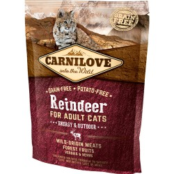 Gratis Carnilove Reindeer for Adult Cats – Energy og Outdoor 50 g