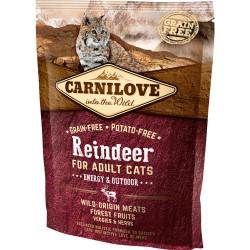 Gratis Carnilove Reindeer for Adult Cats – Energy og Outdoor 50 g