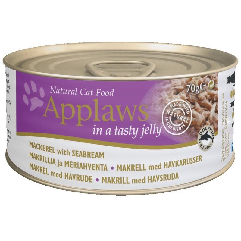 Applaws 70g Cat Makrel & Havbras i gele