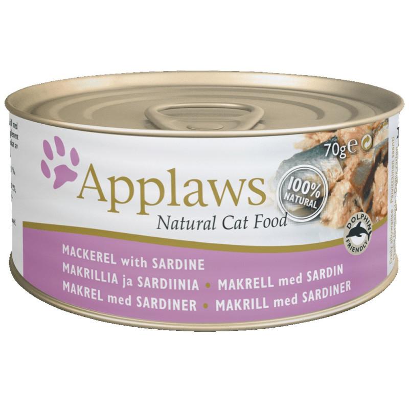 Applaws 70g Cat Makrel & Sardin
