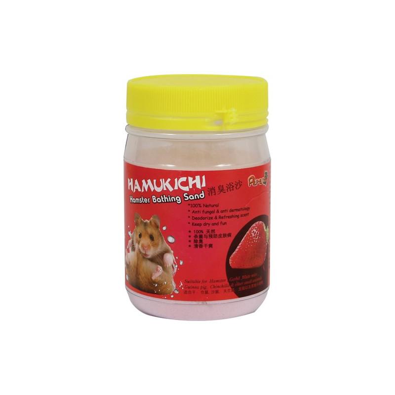 Hamukichi hamster badesand m.Jordbær duft