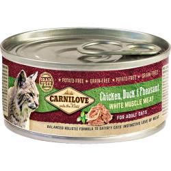 Carnilove Kylling, And & Fasan til katte 100g