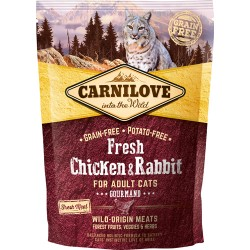 Gratis smagsprøve - Carnilove Fresh Chicken & Rabbit - Adult cats 50g