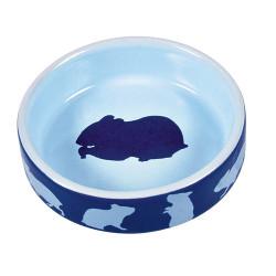 Hamsterskål i keramik m. motiv, ø 8cm ass. farver