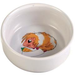 Marsvinskål med motiv keramik