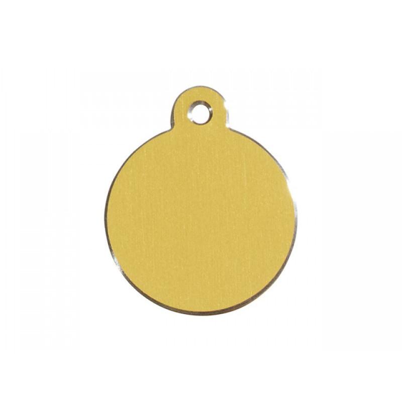 Hundetegn Cirkel Hi-Line guld lille