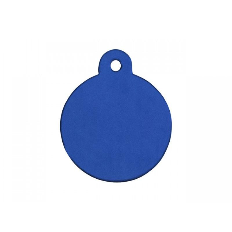 Hundetegn Cirkel blå lille