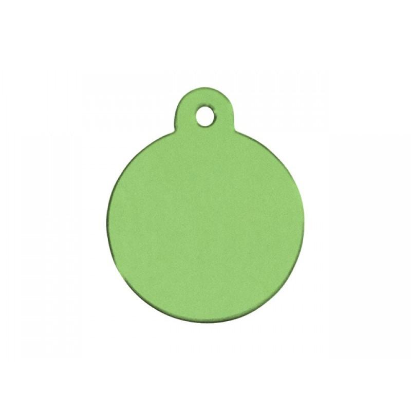 Hundetegn Cirkel Limegrøn stor