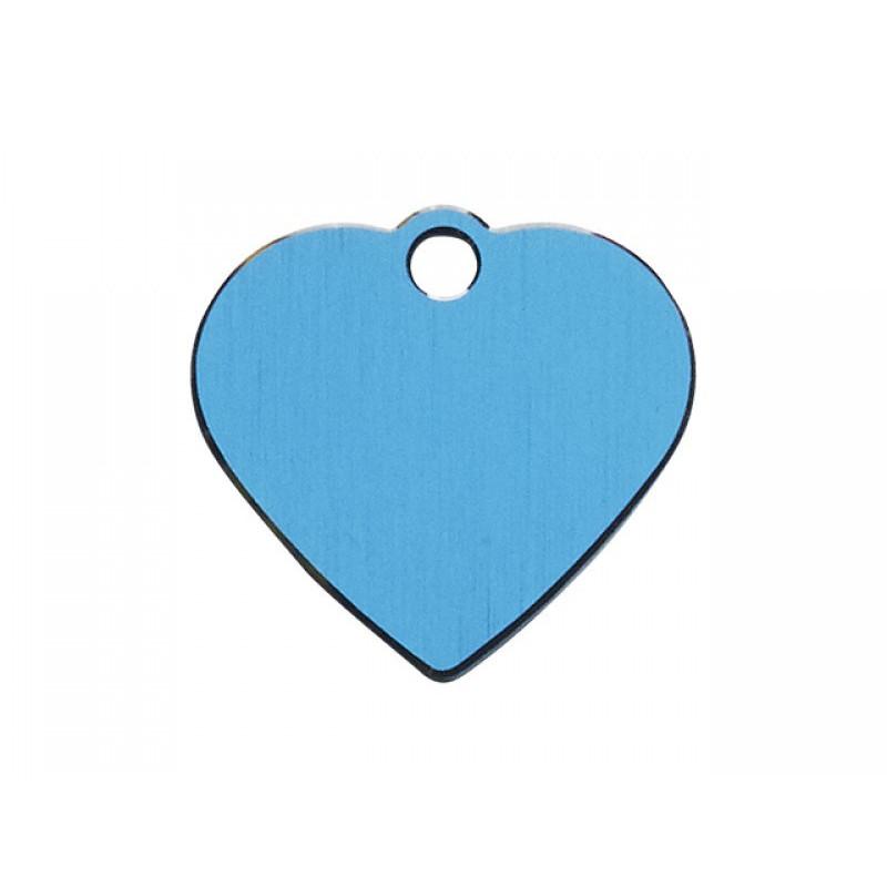 Hundetegn Hjerte Blå Lille