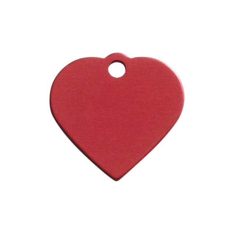 Hundetegn hjerte rød lille