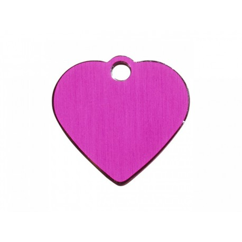 Hundetegn hjerte pink stor