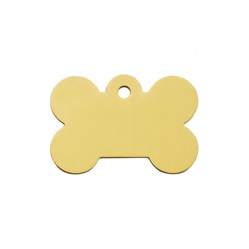 Hundetegn Kødben Guld Stor