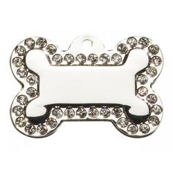 Hundetegn Kødben Glamour Stor Sølv