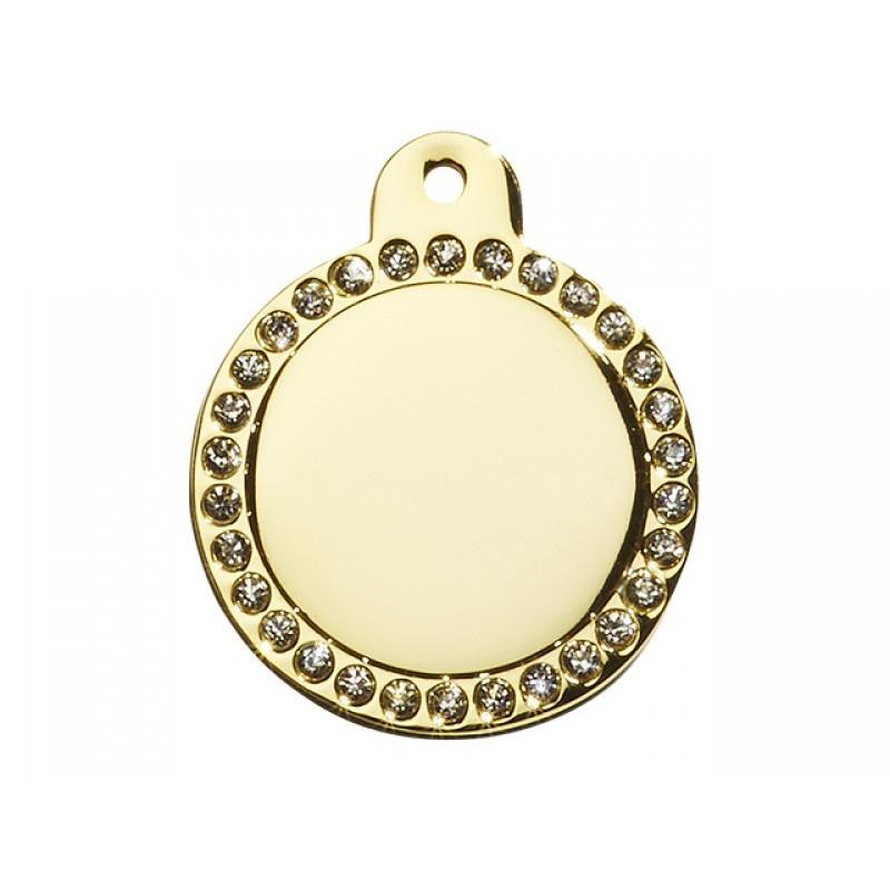 Hundetegn Cirkel Glamour Stor Guld