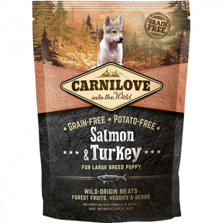 Carnilove Salmon & Turkey for Large Breed Puppy 1.5kg
